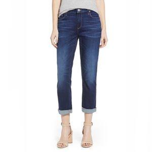Paige Brigitte Boyfriend Ankle Jeans Dark Wash